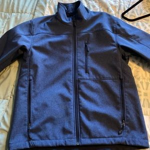Kirkland soft shell jacket size medium blue